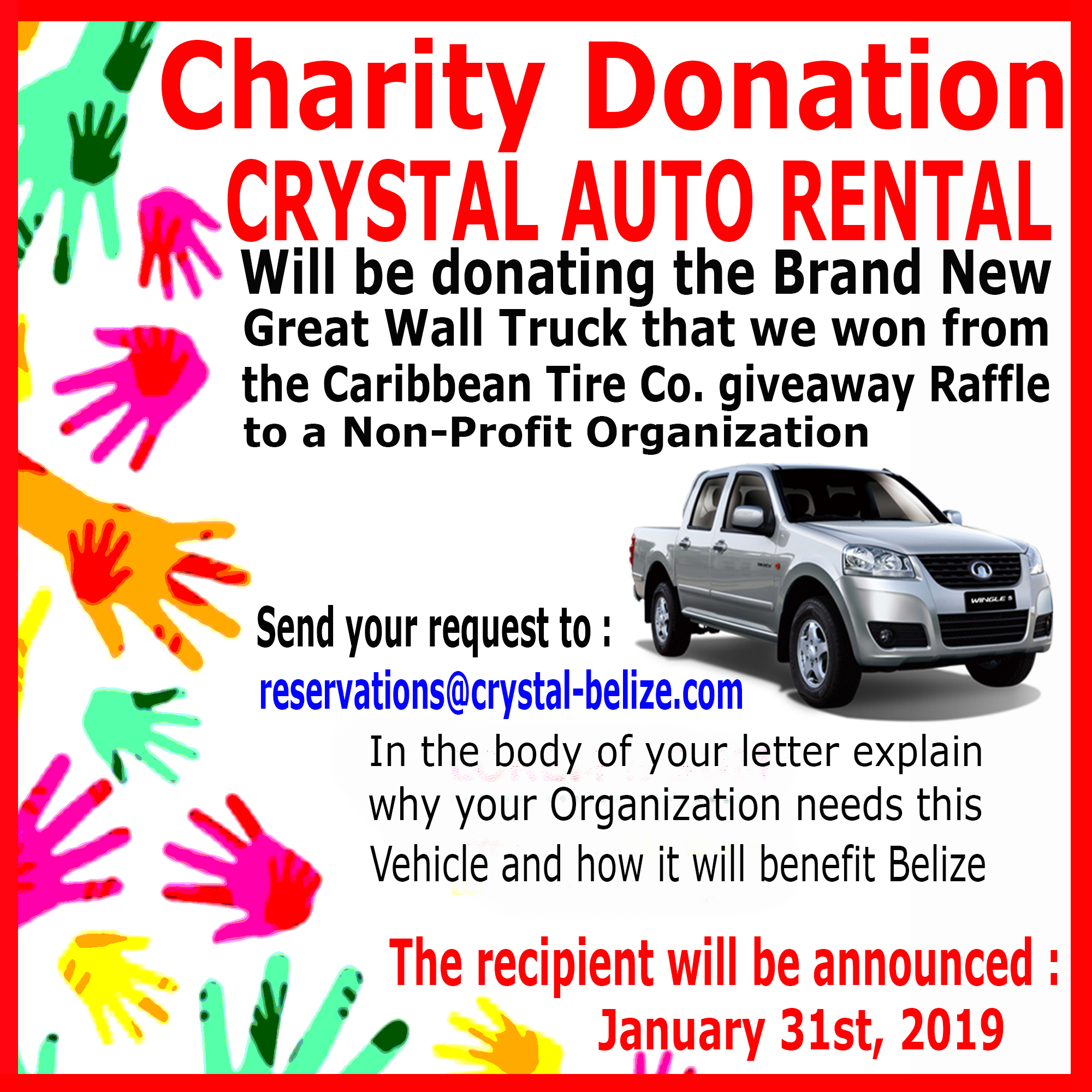 Crystal Auto Rental Donation